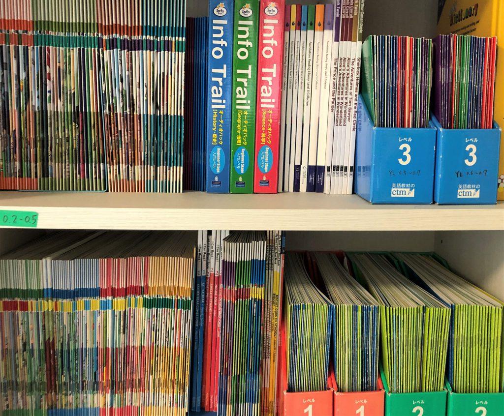 英語絵本(600冊以上)とCDは、全て貸し出し無料で、